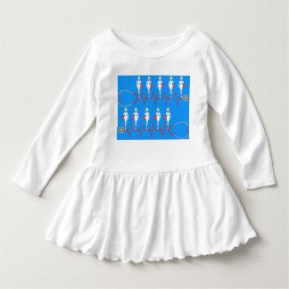 Retro Nurse Toddler Ruffle Dress
