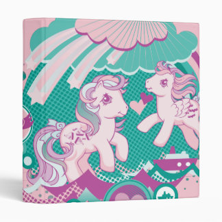 Retro Ocean Design Vinyl Binder