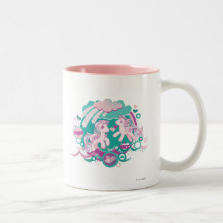 Retro Ocean Design Two-Tone Coffee Mug