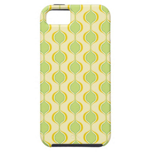 Retro Ogee Pattern Yellow Green iPhone 5 Cases