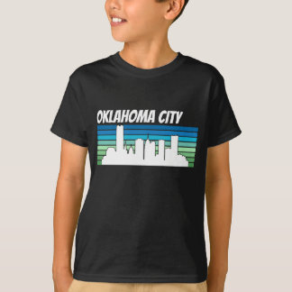 Retro Oklahoma City Skyline T-Shirt