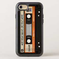 Retro Old Fashioned 80s Mixtape Audio Cassette OtterBox iPhone Case