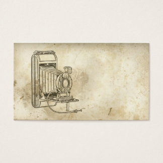 Retro Old Fashioned Film Camera Business Card