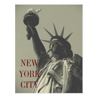 Retro Old Look Statue of Liberty New York City Postcard