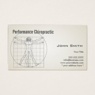 Retro Old Paper Chiropractor Business Card