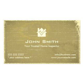 Retro Old Paper Home Inspection Business Card