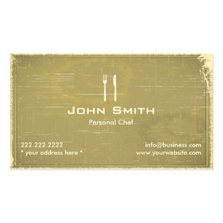 Retro Old Paper Personal Chef Business Card