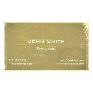 Retro Old Paper Psychologist Business Card