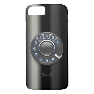 Retro Old Rotary Dial Phone Metallic iPhone 7 Case