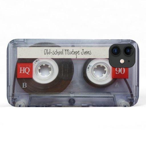 Retro Old-School Mixtape Jams Cassette Tape iPhone 11 Case