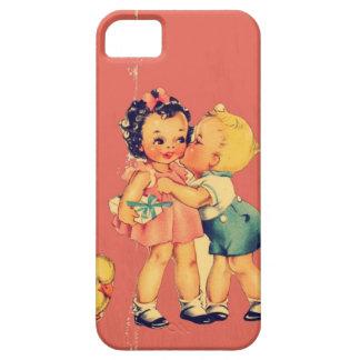 Retro old school Valentine Kitsch Vintage Kid iPhone SE/5/5s Case