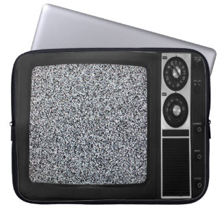 Retro Old TV with Static Screen Case Cover