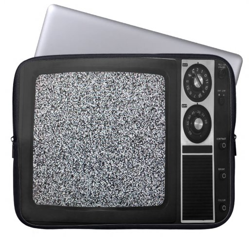 Retro Old TV with Static Screen Case Cover Computer Sleeves