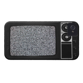 Retro Old TV with Static Screen iPhone 4 Case