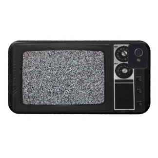 Retro Old TV with Static Screen iPhone 4 Cover