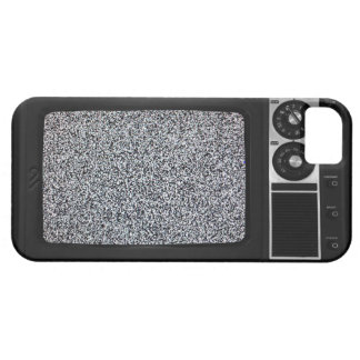 Retro Old TV with Static Screen iPhone SE/5/5s Case