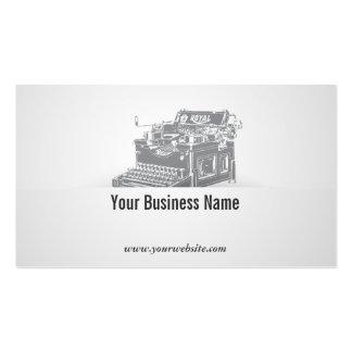 Retro Old Typewriter Writer Business Card
