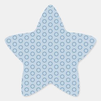 retro oldi 70 muster vintage tocan ligeramente gir pegatina en forma de estrella