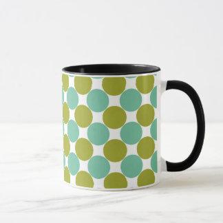 Retro Olive and Green Dots Mug