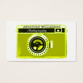 Retro Olive Camera Photography Business Cards