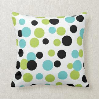 Retro Olive Dots Pillow