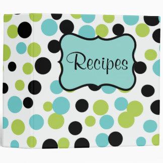 Retro Olive Dots Recipe Binder