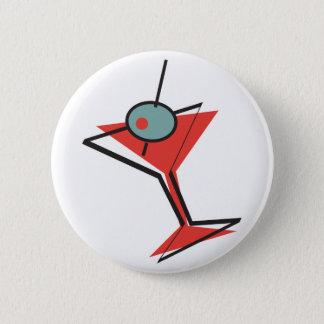 retro olive martini pinback button