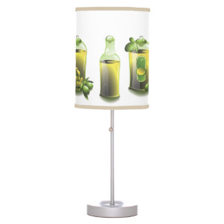 Retro Olive Oil Decanters Desk Lamp