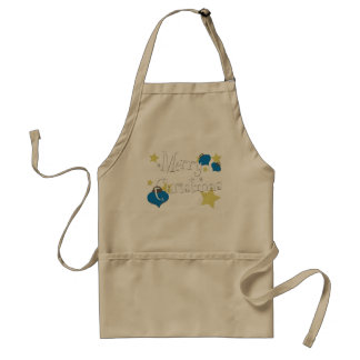 Retro Olive Ornament Christmas Adult Apron