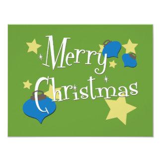 Retro Olive Ornament Christmas Card