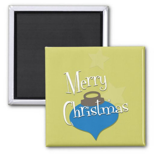 Retro Olive Ornament Christmas Fridge Magnet