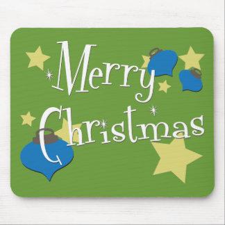 Retro Olive Ornament Christmas Mouse Pad