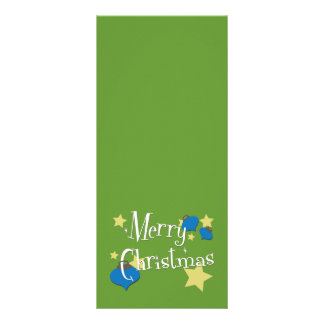 Retro Olive Ornament Christmas Rack Card