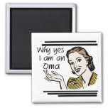 Retro Oma Tshirts and Gifts 2 Inch Square Magnet