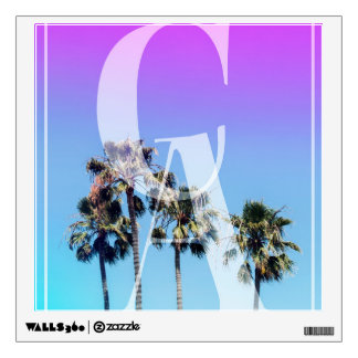 Retro Ombre Southern California Palm Tree Pop Art Wall Decal
