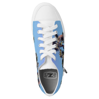 Retro Ombre Southern California Palm Tree Shoes Printed Shoes