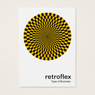 Retro Op Art - Amber and Black Business Card