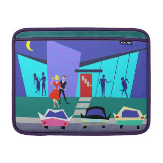 Retro Open House Party Macbook Air Sleeve