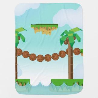 Retro or classic Platform game Receiving Blanket