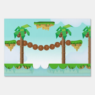 Retro or classic Platform game Yard Sign