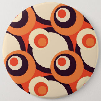 Retro Orange and Brown Fifties Abstract Art Button