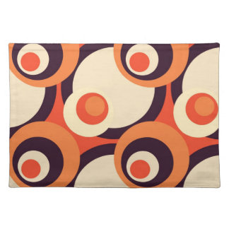 Retro Orange and Brown Fifties Abstract Art Cloth Placemat