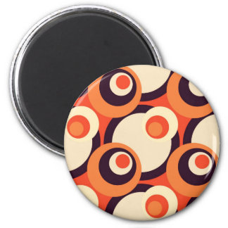 Retro Orange and Brown Fifties Abstract Art Magnet