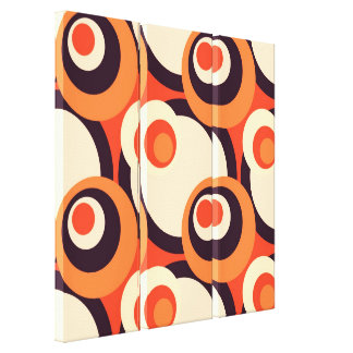 Retro Orange and Brown Fifties Abstract Art Printe Canvas Print