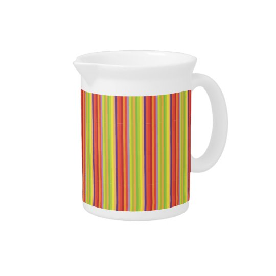 Retro Orange Brown Green Stripes - Pitchers