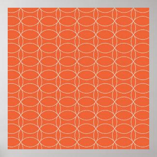 Retro Orange Circles Poster
