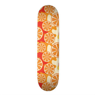Retro Orange Citrus Pattern Skateboard