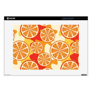 "Retro Orange Citrus Pattern Skin For 15"" Laptop"