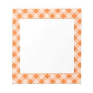 Retro Orange Gingham Notepad