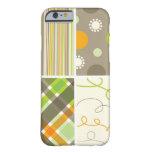 Retro Orange Green Plaid Pattern Dots Scribbles iPhone 6 Case